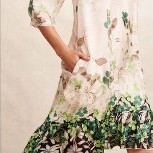 [ Anthro ] Vanessa Virginia Rainforest Silk Dress